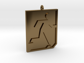 Emergency Exit Pendant in Polished Bronze