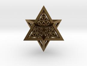 Super Star Tetrahedron (SST) in Polished Bronze
