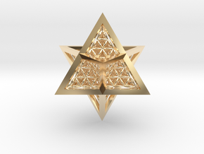 Super Star Tetrahedron (SST) in 14k Gold Plated Brass