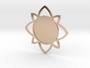 Custom Mandala Pendant 5 in 14k Rose Gold Plated Brass