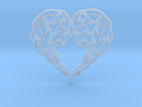 Heart Knot Amulet in Smooth Fine Detail Plastic