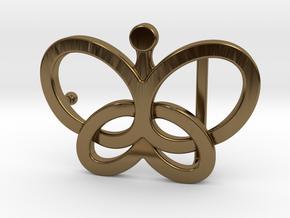 Custom Logo Belt Buckle in Polished Bronze