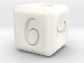 D6 in White Processed Versatile Plastic