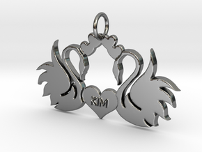 Creator Pendant in Fine Detail Polished Silver