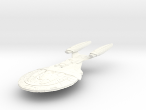 Armada Class V CarrierCruiser LARGE in White Processed Versatile Plastic