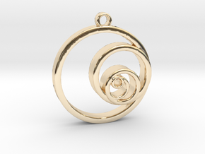 Fibonacci Circles Necklace in 14K Yellow Gold