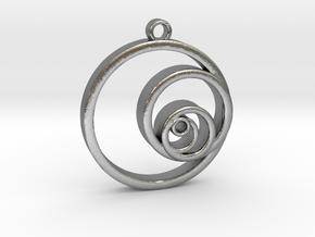 Fibonacci Circles Necklace in Natural Silver