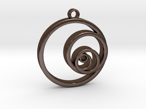Fibonacci Circles Necklace in Polished Bronze Steel
