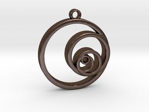 Fibonacci Circles Necklace in Polished Bronze Steel