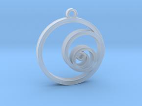 Fibonacci Circles Necklace in Smooth Fine Detail Plastic