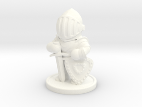 Chibi Knight in White Processed Versatile Plastic