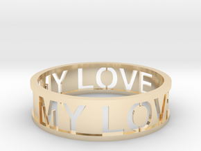 Bracelet my love in 14k Gold Plated