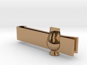 Tie Clip Glencairn Whiskyglass in Polished Brass