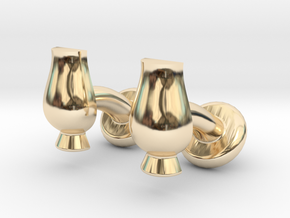 Cufflinks Glencairn Whiskyglass in 14K Yellow Gold