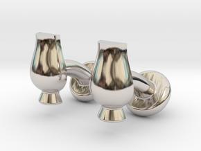 Cufflinks Glencairn Whiskyglass in Platinum