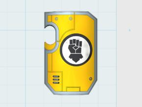 10x Kings Fist Legion 2 - Marine Shield w/Hand in Frosted Ultra Detail