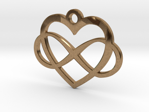Infinity Heart in Natural Brass