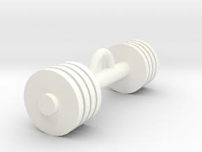 Gym weight pendant in White Processed Versatile Plastic