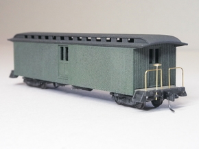 HOn3 40ft Baggage Car D in White Natural Versatile Plastic
