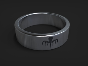 Spectre Ring size 10 (UK size T 1/2) in Fine Detail Polished Silver