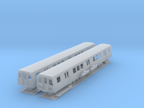 N Scale Washington DC Metro 7000 (2) in Smooth Fine Detail Plastic