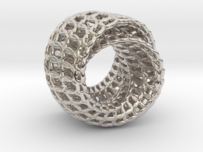 Lingering ring Pendant in Rhodium Plated Brass