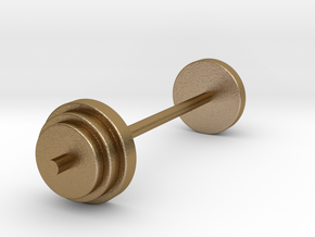 a Mini Traditional Weight Set Merged in Polished Gold Steel