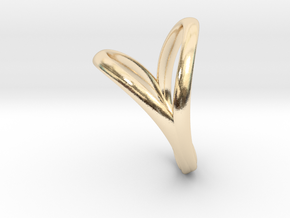 Union Heart Ring  in 14K Yellow Gold: 8 / 56.75