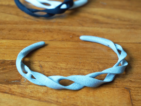 Ribbon Möbius bracelet - Small in White Natural Versatile Plastic