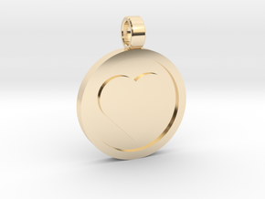 "Personalized Heart Pendant - Say ""I Love You""  in 14K Yellow Gold"