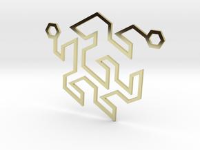 Gosper Pendant Double in 18k Gold Plated Brass