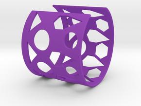 Cubic Bracelet Ø68 Mm/Ø2.677 inch Style A Large in Purple Processed Versatile Plastic
