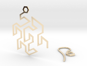Gosper Earring in 14k Gold Plated Brass