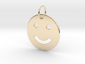 Smiley Pendant in 14k Gold Plated Brass