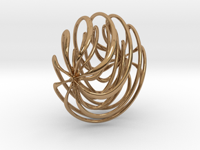 SPIRAL in Polished Brass