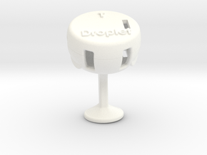 Droplet Cufflink (Single) in White Processed Versatile Plastic