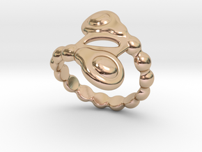 Spiral Bubbles Ring 15 - Italian Size 15 in 14k Rose Gold Plated
