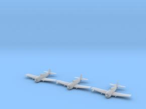 Grumman F6F-5N 'Hellcat' 1/200 x3 in Smooth Fine Detail Plastic