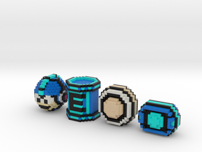 Mega Man Items (Set) in Full Color Sandstone