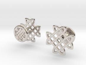 CELTIC KNOT CUFFLINKS in Platinum