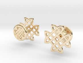 CELTIC KNOT CUFFLINKS in 14k Gold Plated Brass