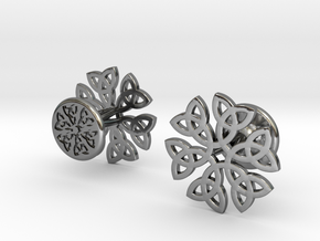CELTIC KNOT CUFFLINKS 021116 in Fine Detail Polished Silver