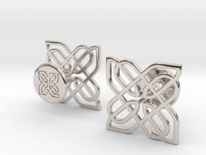CELTIC KNOT CUFFLINKS 021216 in Platinum