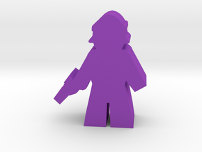 Game Piece, Hairtauri Officer in Purple Processed Versatile Plastic