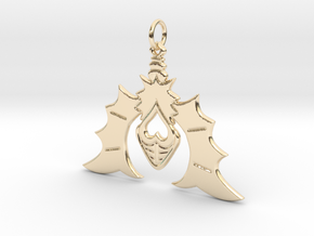 Batty For You Earring/Pendant (Single Unit) in 14k Gold Plated Brass