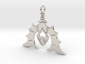 Batty For You Earring/Pendant (Single Unit) in Rhodium Plated Brass