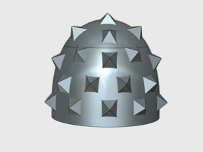 10x Spiked Pauldron - G:6a Shoulder Pad in Smooth Fine Detail Plastic