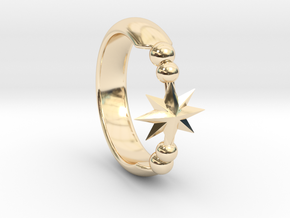 Ring of Star 14.1mm in 14K Yellow Gold