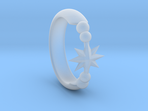 Ring of Star 14.1mm in Smooth Fine Detail Plastic