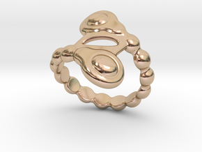 Spiral Bubbles Ring 18 - Italian Size 18 in 14k Rose Gold Plated